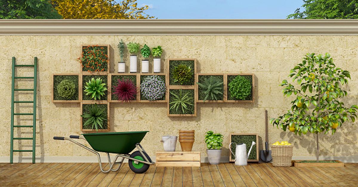 10 ideias exclusivas para fazer um jardim vertical doméstico