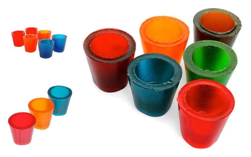 Cómo hacer vasos de gelatina