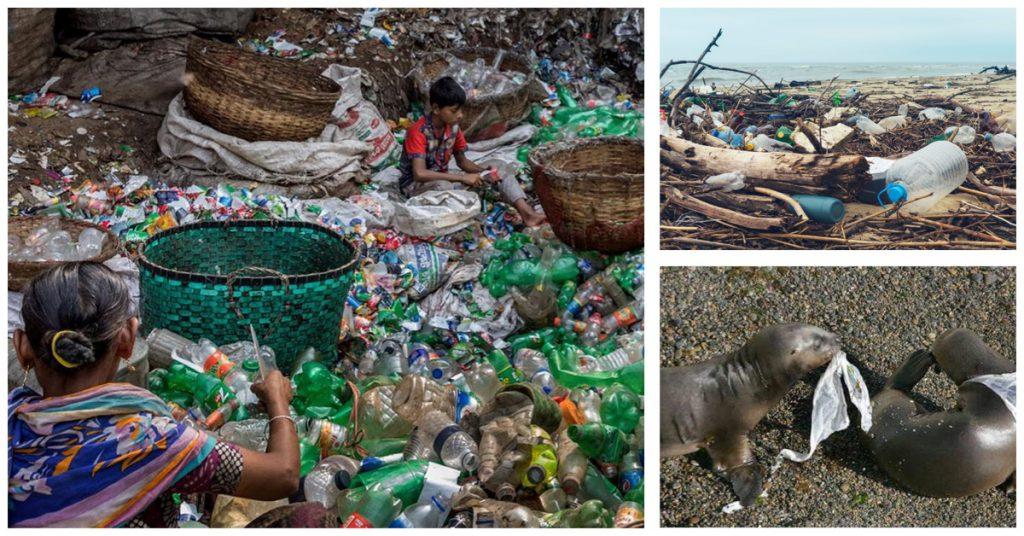 Cifras que reflejan la contaminación ambiental por plástico