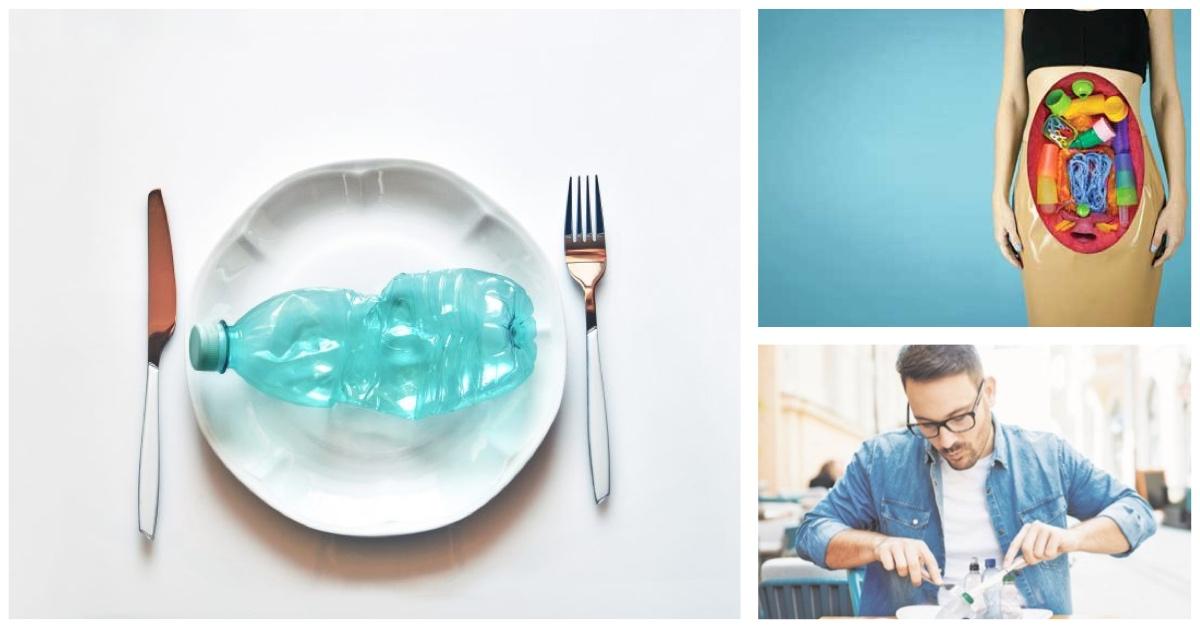 Humanos comiendo plástico