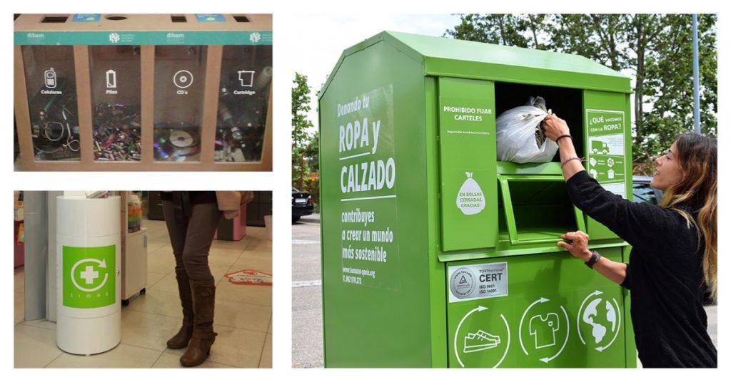 Otros tipos de contenedores de reciclaje