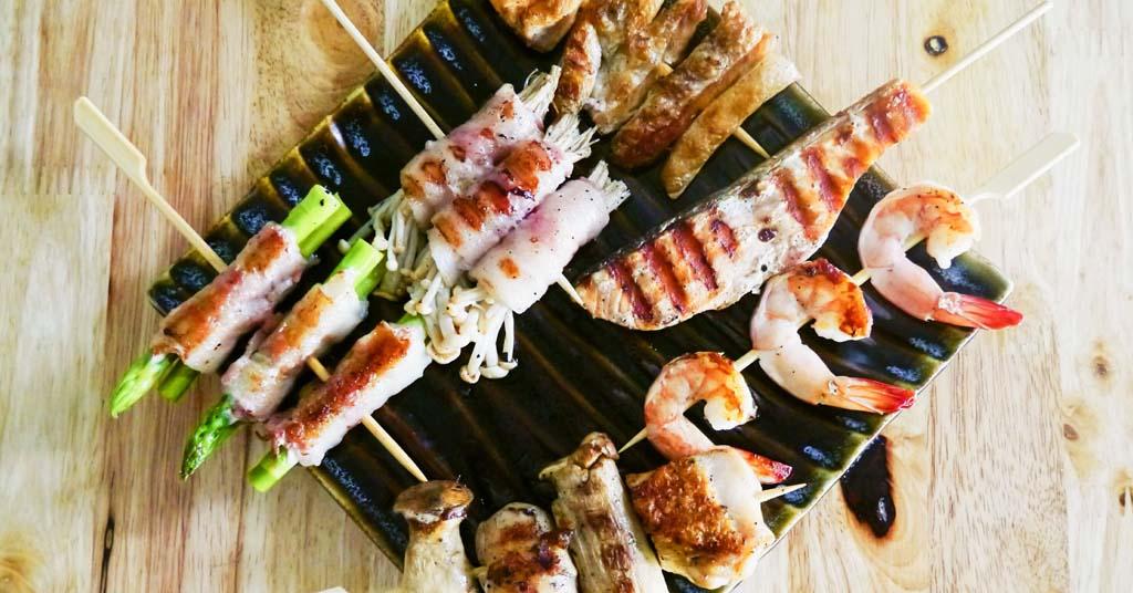 recetas originales con pinchos de bambú