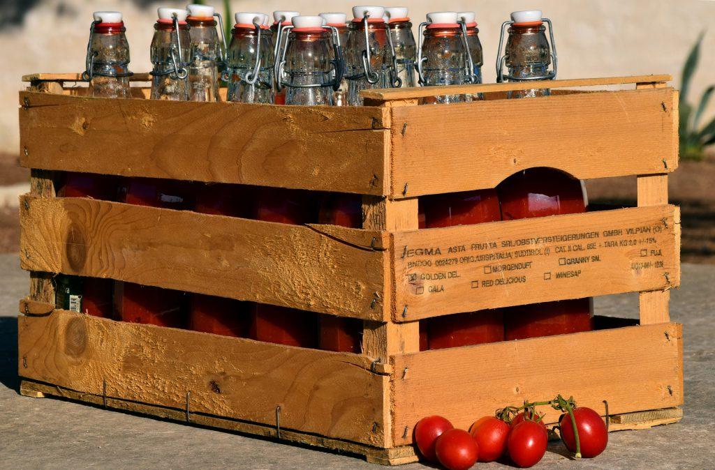 reparto de comida en cestas